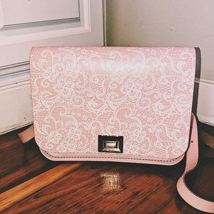🇬🇧The Leather Satchel Co. Pixie Bag in Pink Lace